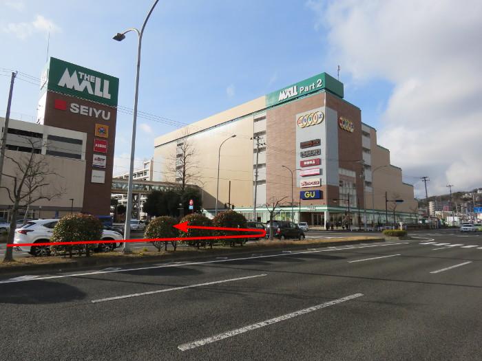 ララガーデン駐車場(東から2)