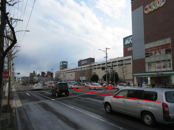 ララガーデン駐車場(北から)