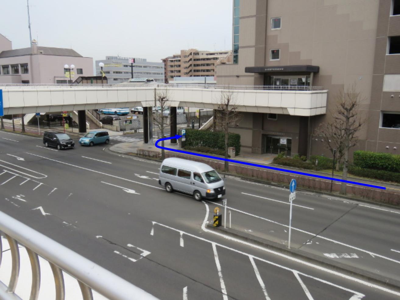 泉中央駅からのびすく泉中央への行き方(バス3)