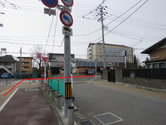 薬師堂駅から若林区役所(のびすく若林)6